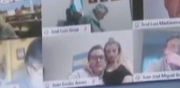 Escândalo: Deputado argentino faz intimidades em sessão virtual da câmara