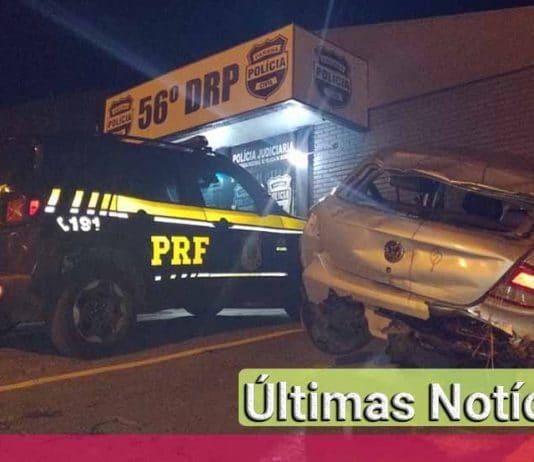 Paraná: Homem capota carro e é preso por suspeita de roubo do veiculo acidentado