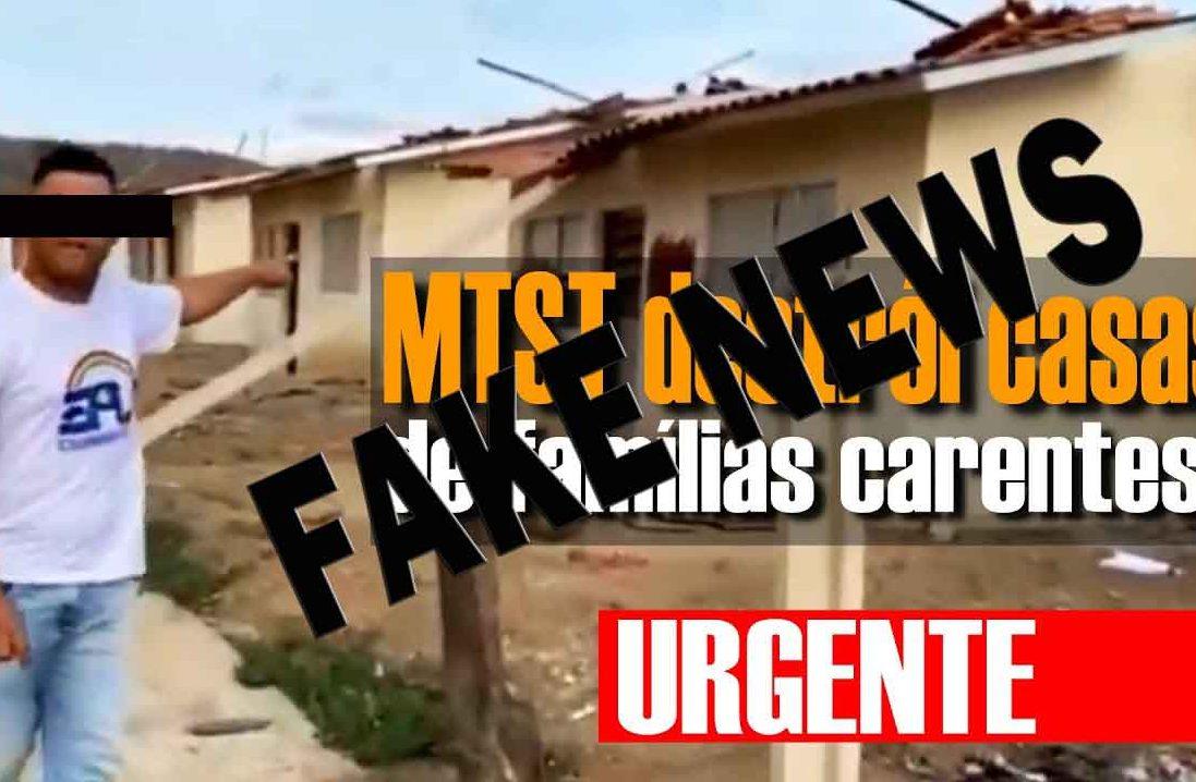 Presidente Bolsonaro compartilhar fake news sobre o MTST